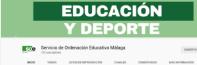Canal de Youtube Servicio de Ordenación Educativa Málaga