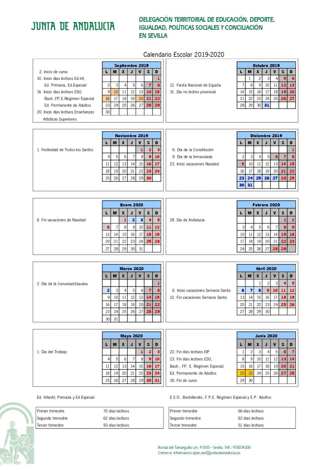 Calendario Escolar 2020 Andalucia.Calendario Escolar Ceip Cervantes Alcala De Guadaira