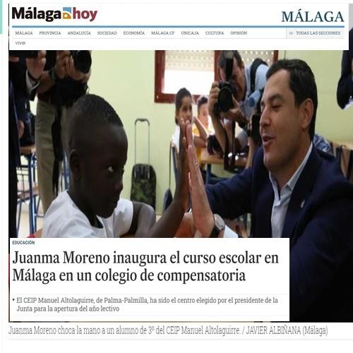 INAUGURACIÓN COLEGIO M. ALTOLAGUIRRE (MÁLAGA)