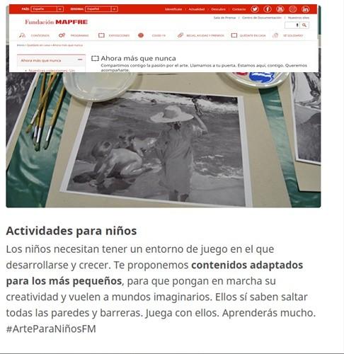 CONTENIDOS PARA NIÑOS FUNDACIÓN MAPFRE