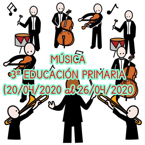 MÚSICA 3º EDUCACIÓN PRIMARIA (20/04/2020  al 26/04/2020)
