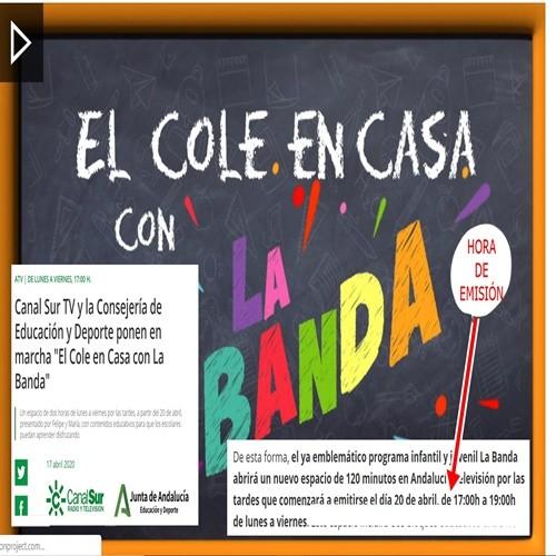 EL COLE EN CASA CON LA BANDA