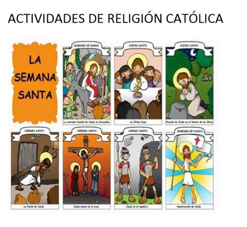 Actividades Religión sobre la Semana Santa
