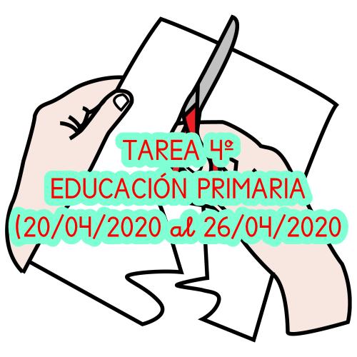 TAREA 4º EDUCACIÓN PRIMARIA (20/04/2020 al 26/04/2020)