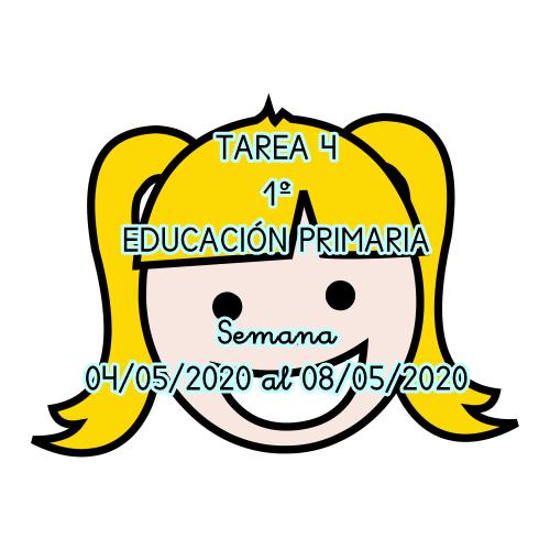 TAREA 4 DE 1º EDUCACIÓN PRIMARIA (04/05/2020 al 08/05/2020)