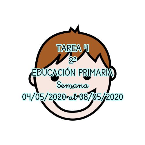 TAREA 4 DE 2º DE EDUCACIÓN PRIMARIA (04/05/2020 al 08/05/2020)