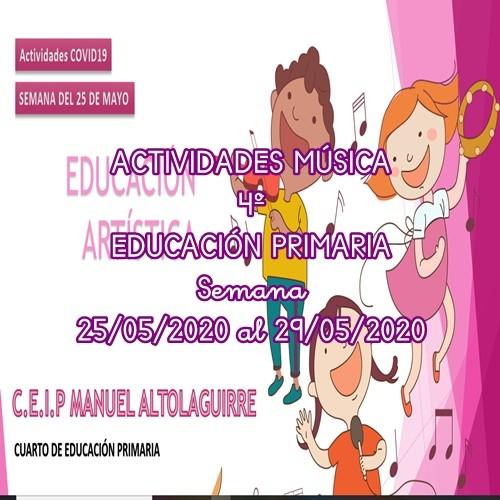 ACTIVIDADES DE MÚSICA 4º EDUCACIÓN PRIMARIA (25/05/2020 al 29/05/2020)