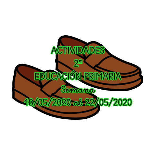 ACTIVIDADES 2º EDUCACIÓN PRIMARIA (18/05/2020 al 22/05/2020)