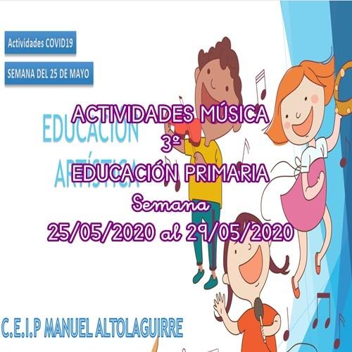 ACTIVIDADES MÚSICA 3º EDUCACIÓN PRIMARIA (25/05/2020 al 29/05/2020)