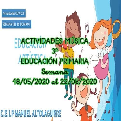 ACTIVIDADES MÚSICA 3º EDUCACIÓN PRIMARIA ( 18/05/2020 al 22/05/2020)