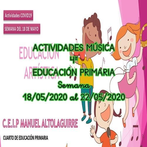 ACTIVIDADES DE MÚSICA 4º EDUCACIÓN PRIMARIA (18/06/2020 al 22/05/2020)