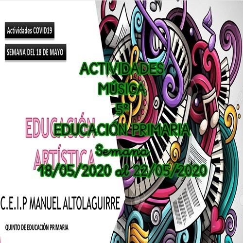 ACTIVIDADES MÚSICA 5º EDUCACIÓN PRIMARIA (18/05/2020 al 22/05/2020)