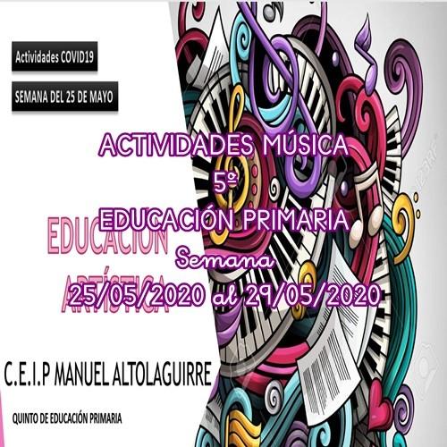 ACTIVIDADES MÚSICA 5º EDUCACIÓN PRIMARIA (25/05/2020 al 29/05/2020)