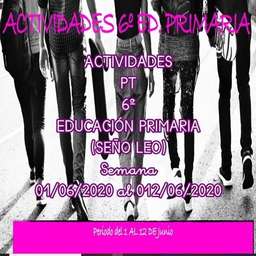 ACTIVIDADES PT 6º EDUCACIÓN PRIMARIA (SEÑO LEO) (01/06/2020 al 12/06/2020)