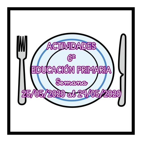 ACTIVIDADES  6º EDUCACIÓN PRIMARIA (25/05/2020 al 29/05/2020)