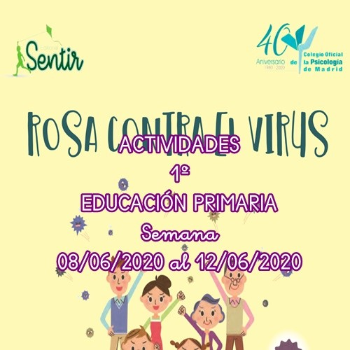 ACTIVIDADES 1º EDUCACIÓN PRIMARIA (08/06/2020 al 12/06/2020)