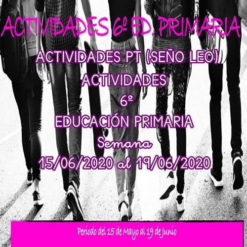 ACTIVIDADES PT (SEÑO LEO) PARA 6º EDUCACIÓN PRIMARIA (19/06/2020 AL 19/06/2020)