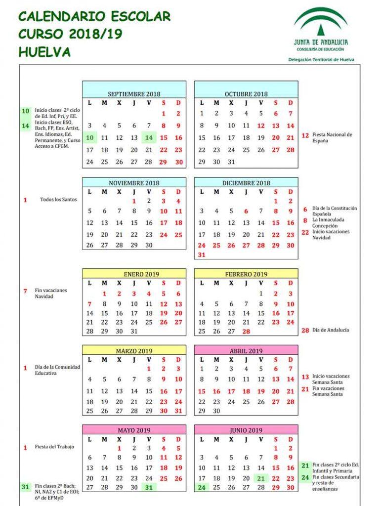 Calendario Escolar Huelva.Calendario Escolar Ceipmiguelhernandezdemanzanilla
