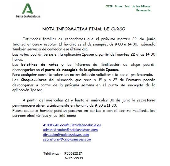 NOTA FINAL DE CURSO
