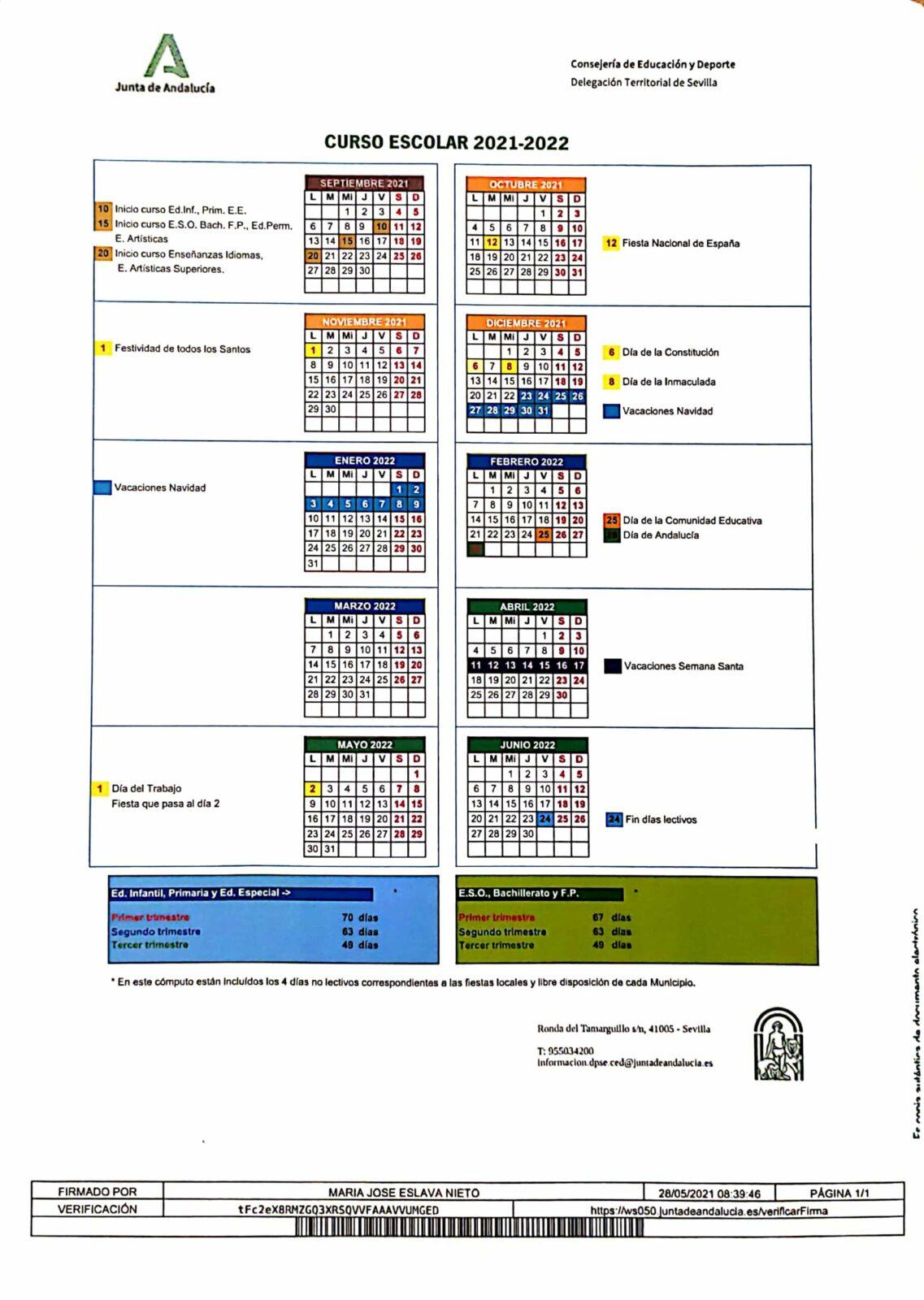 INFORMACIÓN COMIENZO CURSO 2021-22