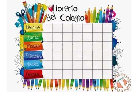 Icono horario escolar