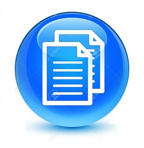 Documents icon glassy blue button