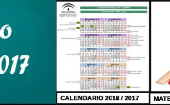 Calendario y listados de material en Primaria – Curso Escolar 2016 ...
