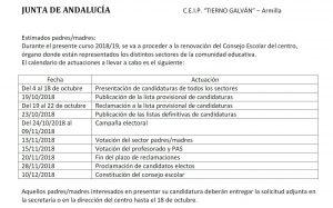 Elecciones a Consejo Escolar. Información