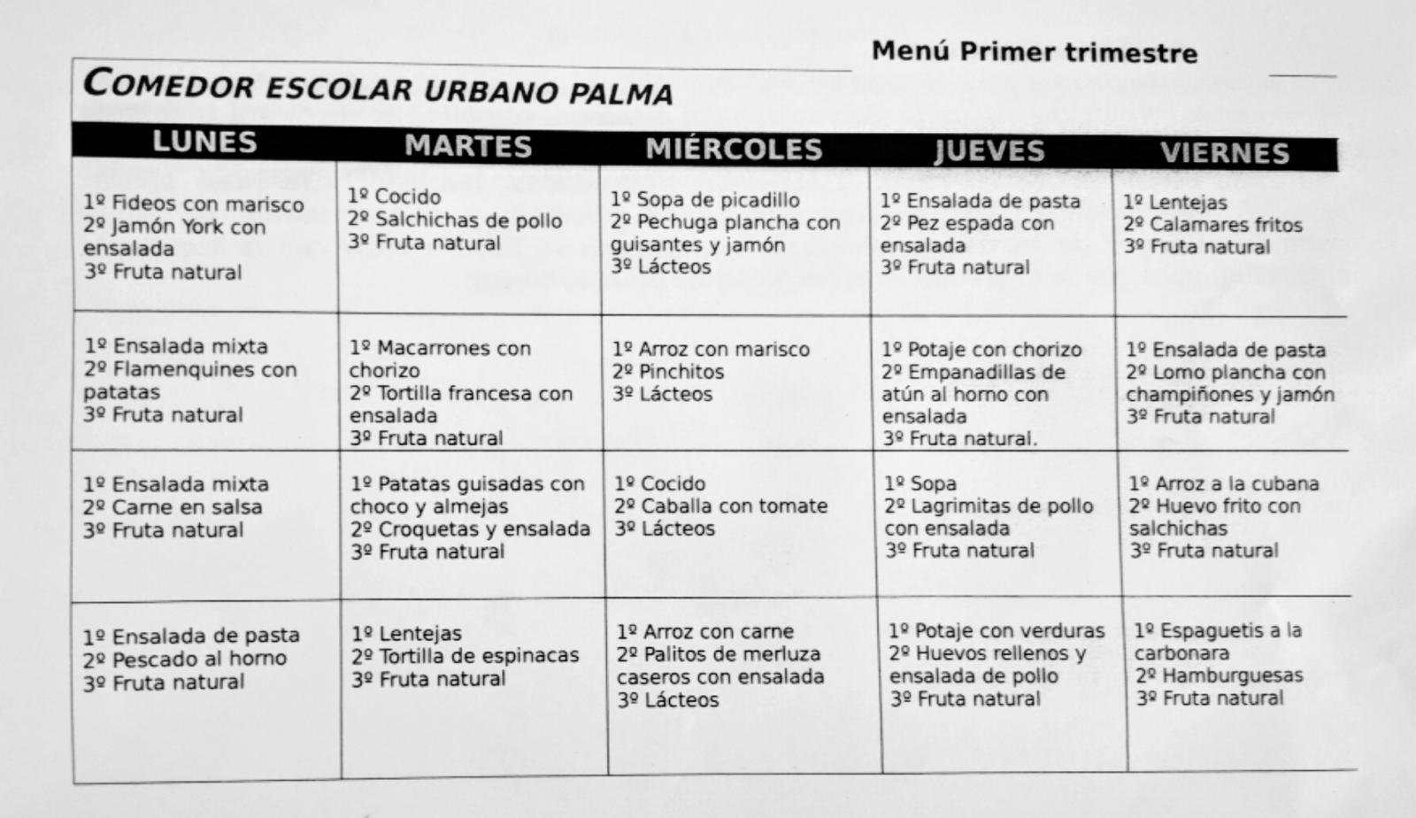 Comedor escolar   CEIP Urbano Palma (Santaella)