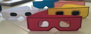 Gafas simulación de cartón