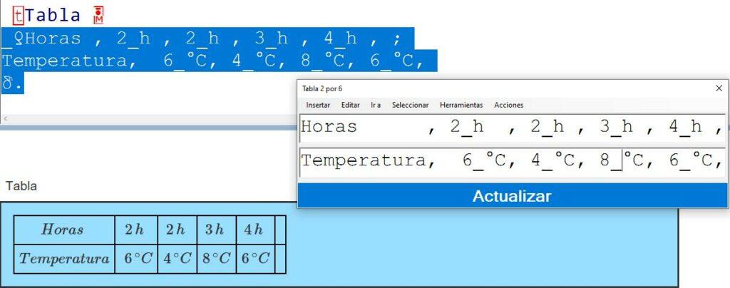 Imagen de la pantalla del ordenador con una estructura bidimensional de edico