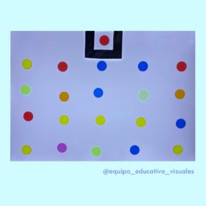 Lamina con círculos de diferentes colores