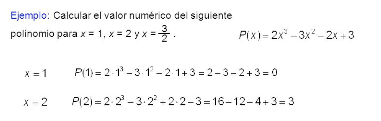 Valor Numérico De Un Polinomio Y Ruffini Eratóstenes