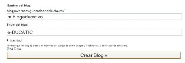 imagen del blogsaverroes, crear un blog