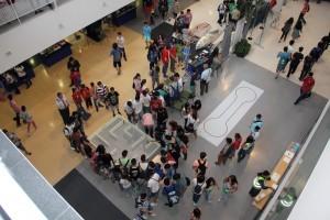 imagen aerea de los alumnos que asistieron a este encuentro