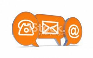 imagen de tres iconos, un telefono, un sobre y la @