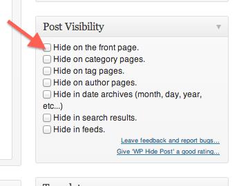imagen del plugin hide-post