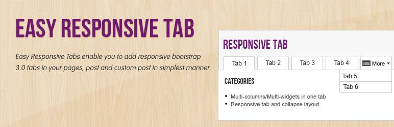 imagen de la portada del plugin easy responsive tab