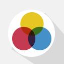 Dibujo de tres círculos de colores