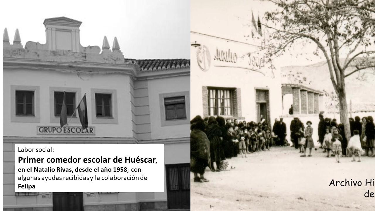 Primer comedor escolar en Huéscar | Francisca Bustos Giménez