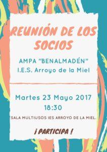 REUNIÓN SOCIOS AMPA23MAYO