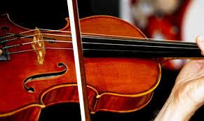 La antigua alumna del IES Christine Picasso, Marina Peláez, primer violín de la OFM.