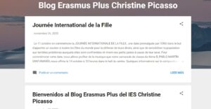 Blog Erasmus plus Christine Picasso