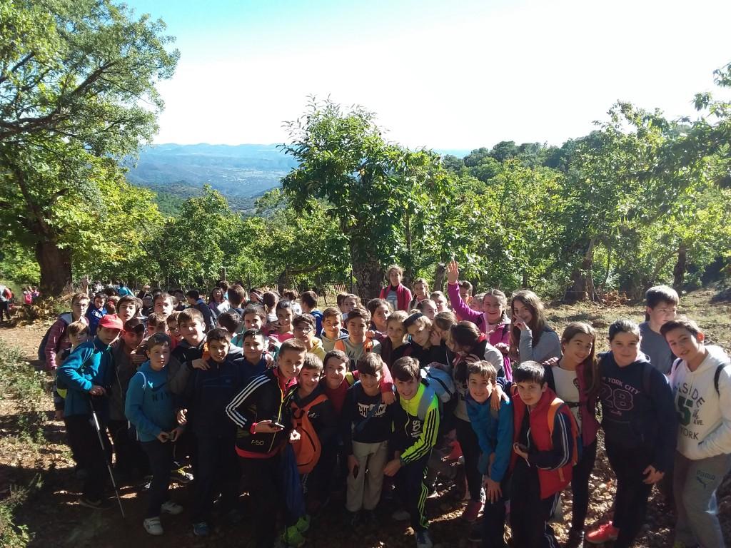 Grupo de alumnos en la excursión