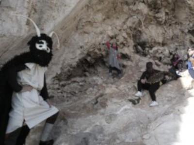 El brujo en la Cueva de los Letreros