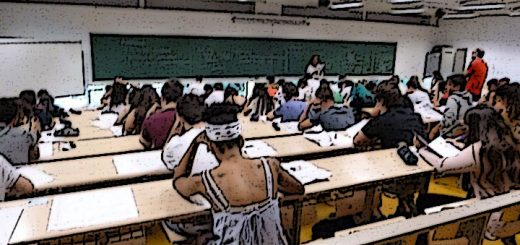 Alumnos realizando la PEVAU.