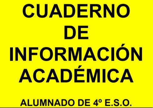 CUADERNO DE INFORMACIÓN ACADÉMICA DE E.S.O. CURSO 2018-19