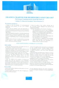 ERASMUS CHARTER FOR HIGHER EDUCATION 2021-2027
