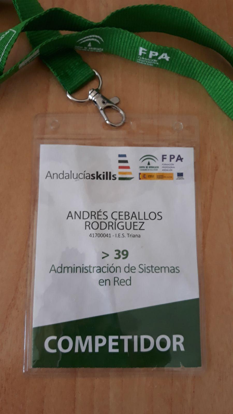 Andrés Ceballos  7º en las Olimpiadas de FP