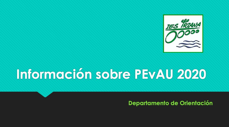 Información sobre PEvAU